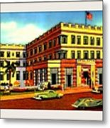 Astor Hotel, Miami Beach Fl, 1938 Metal Print