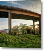 Astoria Bridge Sunrise Metal Print
