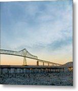 Astoria Megler Bridge By Riverwalk Panorama Metal Print