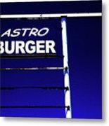 Astro Burger Metal Print