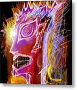 Astroface Firehead Metal Print