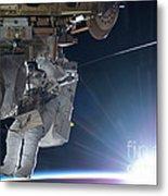 Astronaut Terry Virts Eva Metal Print