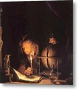 Astronomer By Candlelight Metal Print