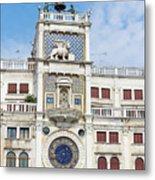 Astronomical Clock At San Marco Square Metal Print