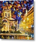 Asuncion Paraguay - Palette Knife Oil Painting On Canvas By Leonid Afremov Metal Print