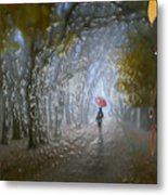 At Autumn Park Metal Print