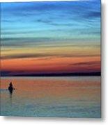 At Dawn In A Canoe  Metal Print