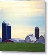 At First Light - Illinois Farmland Metal Print