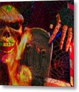 At Night In The Graveyard Metal Print