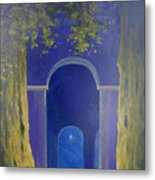 At Night In The Temple Metal Print
