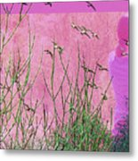 At One With The Birds Metal Print