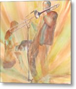 At One With The Music Metal Print