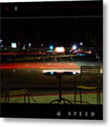 At Speed Metal Print