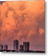 At Sunset In West Palm Beach Metal Print