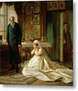 At The Altar Metal Print by Firs Sergeevich Zhuravlev