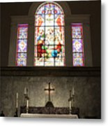 At The Altar In Church Of The Presidents Metal Print