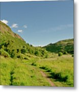 At The Base Of The Ancient Volcano. Metal Print
