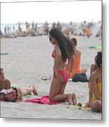 At The Beach Metal Print