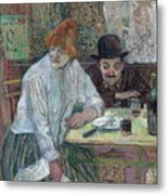 At The Cafe La Mie About 1891 Metal Print