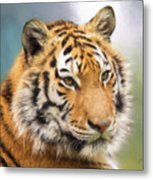 At The Center - Tiger Art Metal Print