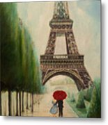 At The Eiffel Tower Metal Print