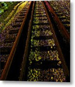 At The End Of A Railroad Track Metal Print