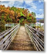 At The End Of The Dock Metal Print