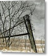 At The End...fence Post Metal Print
