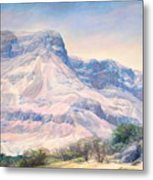 At The Foot Of Mountains Metal Print