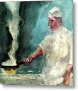 At The Griddle Metal Print
