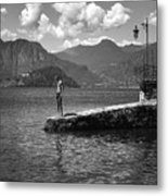 At The Lake Metal Print