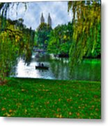 At The Lake In Central Park Metal Print