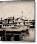 At The Marina - Jersey Shore Metal Print