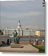 At The Newa - St. Petersburg Russia Metal Print