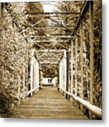 At The Other End Of The Old Bridge Metal Print