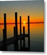 At The Pier Metal Print