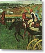 At The Races, Digitally Enhanced, Edgar Degas, Digitally Enhanced Maximum Resolution Metal Print
