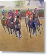 At The Races Metal Print