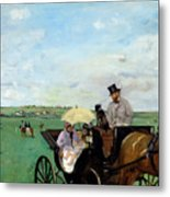 At The Races In The Countryside,  Metal Print