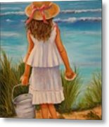 At The Seashore Metal Print