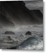 At The Sight Of The Wave Metal Print