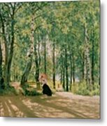 At The Summer Cottage Metal Print