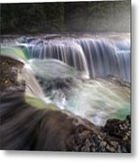At The Top Of Lower Lewis River Falls Metal Print