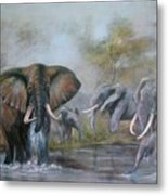 At The Waterhole Metal Print