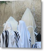 At The Western Wall Metal Print