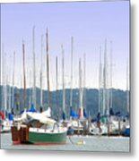 At The Yacht Club Metal Print