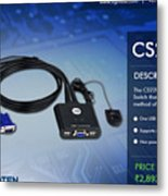 Aten's 2 Port Usb Cable Kvm Switch - Cs22u Metal Print