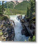 Athabaska Falls, Mt. Hardisty Metal Print