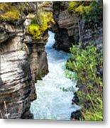 Athabaska River Slot Canyon Metal Print