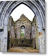 Athassel Priory Tipperary Ireland Medieval Ruins Decorative Arched Doorway Into Great Hall Metal Print